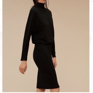 Aritzia Wilfred Free Resing black midi dress NWOT